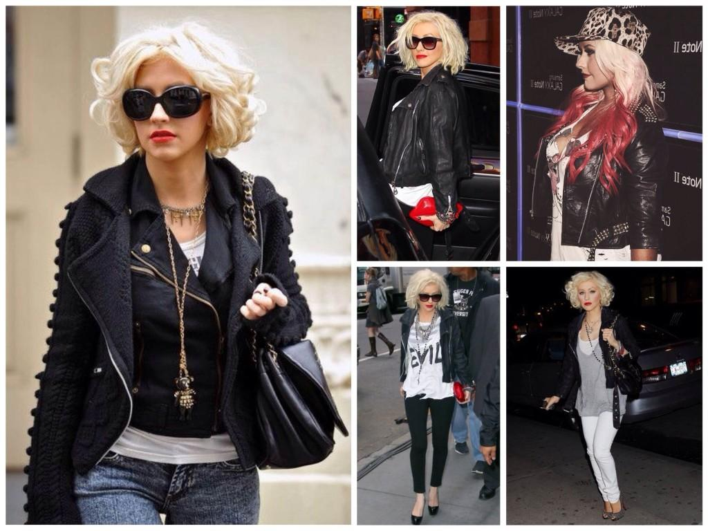 Christina Aguilera rock style