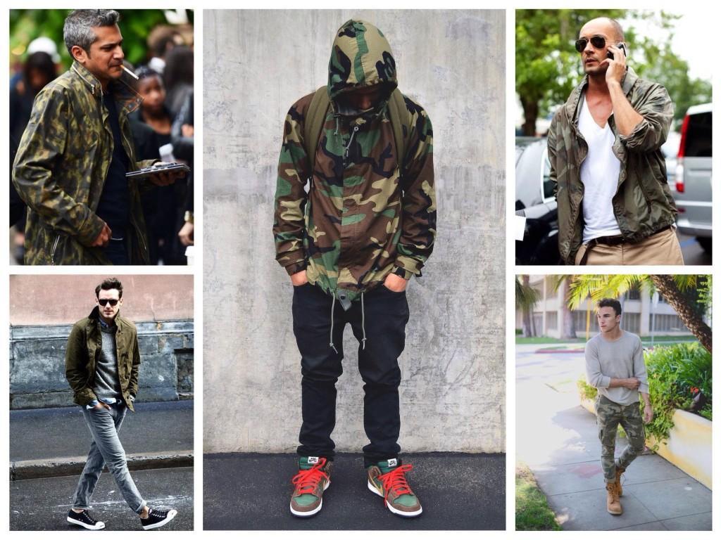 Мужская мода милитари