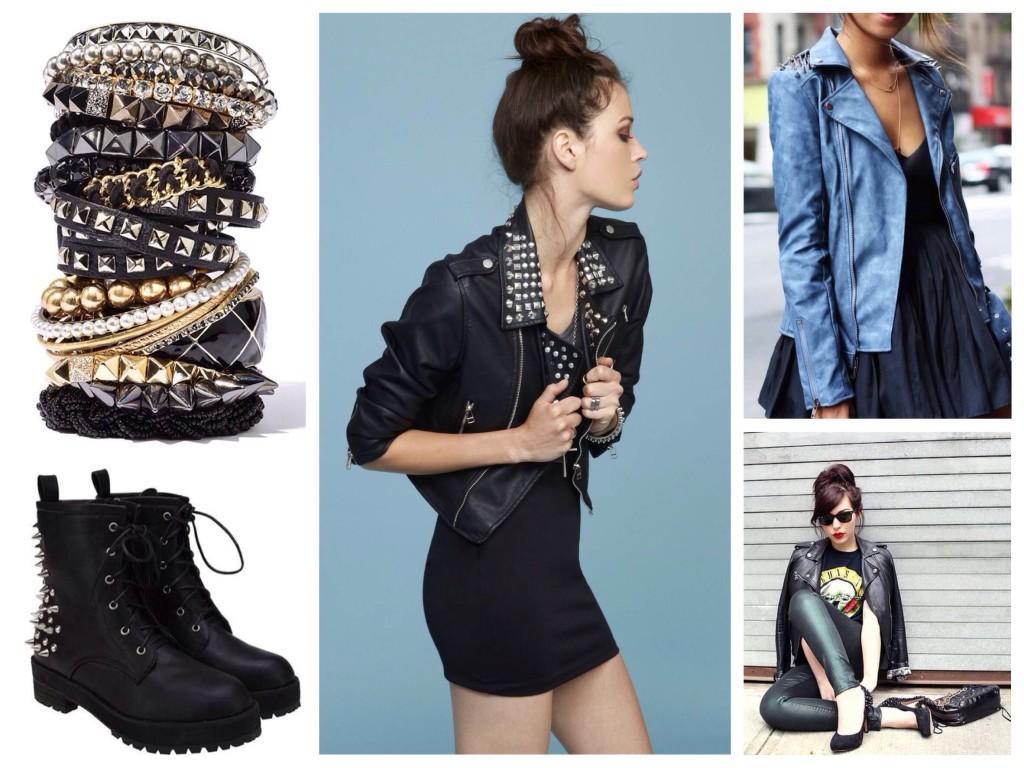 аксессуары и одежда рок стиля