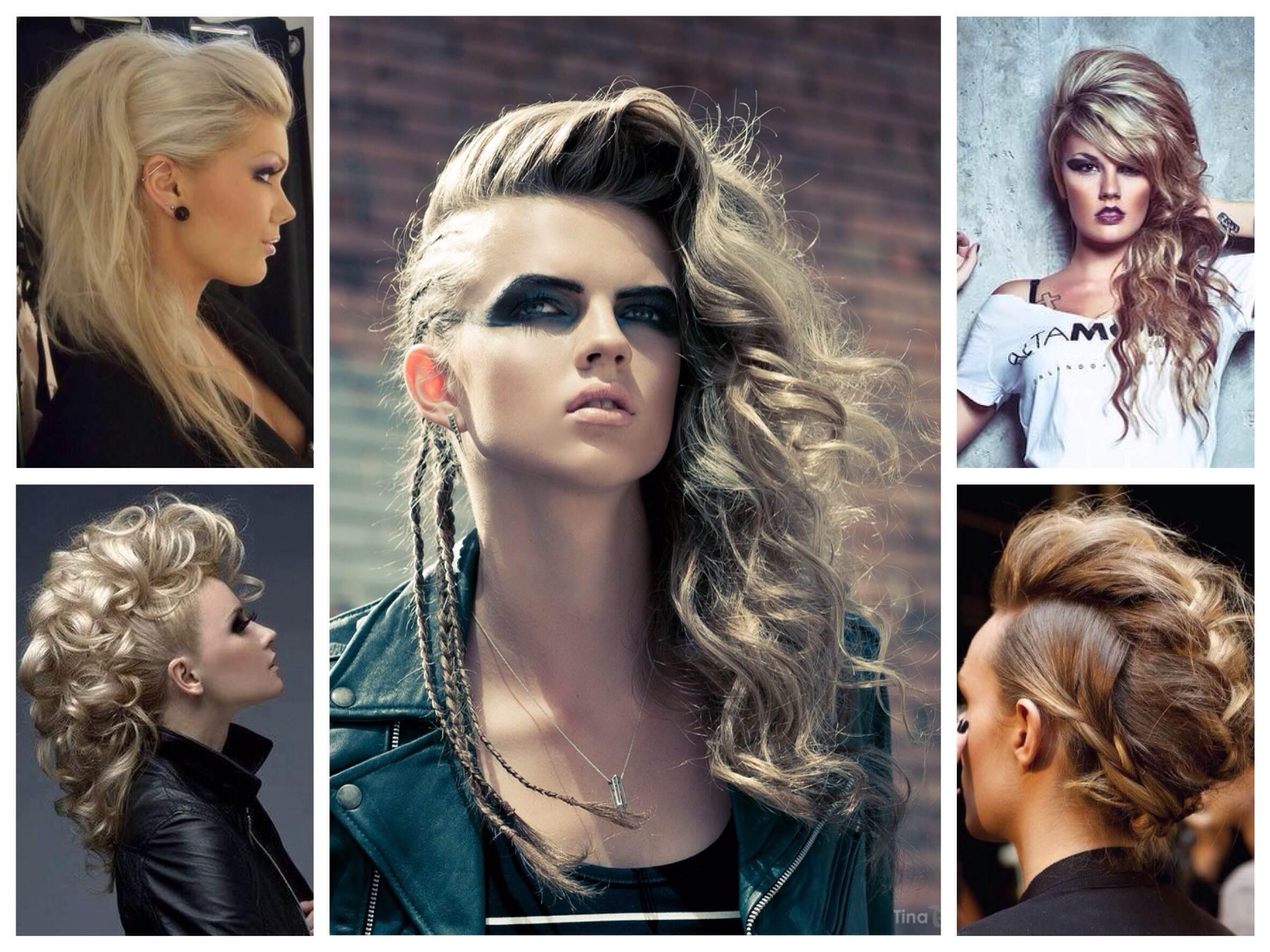 Рокерские причёски для девушек