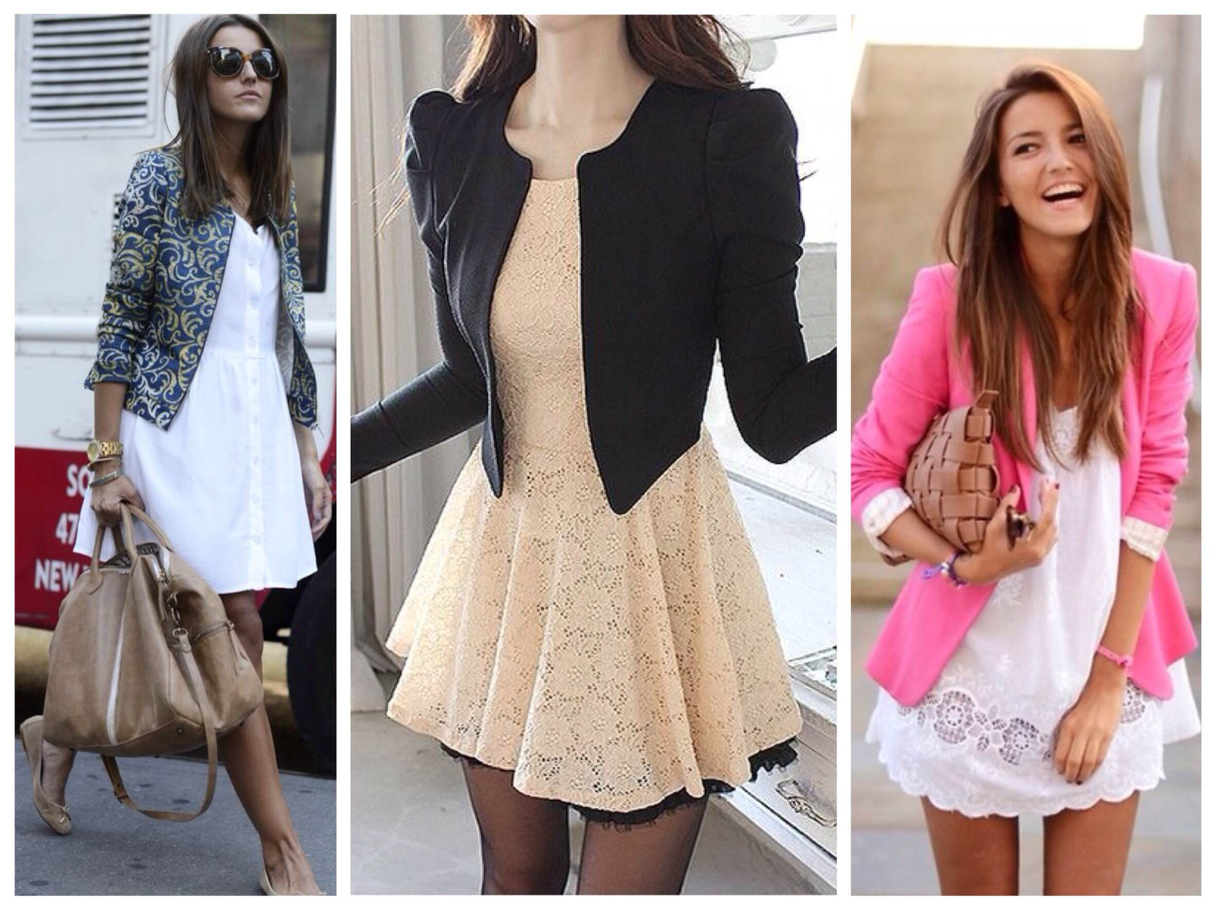 Как носить платья с пиджаком