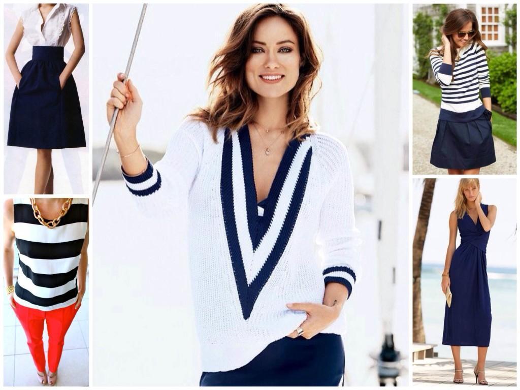 Морской стиль в одежде: модные луки, фото, советы