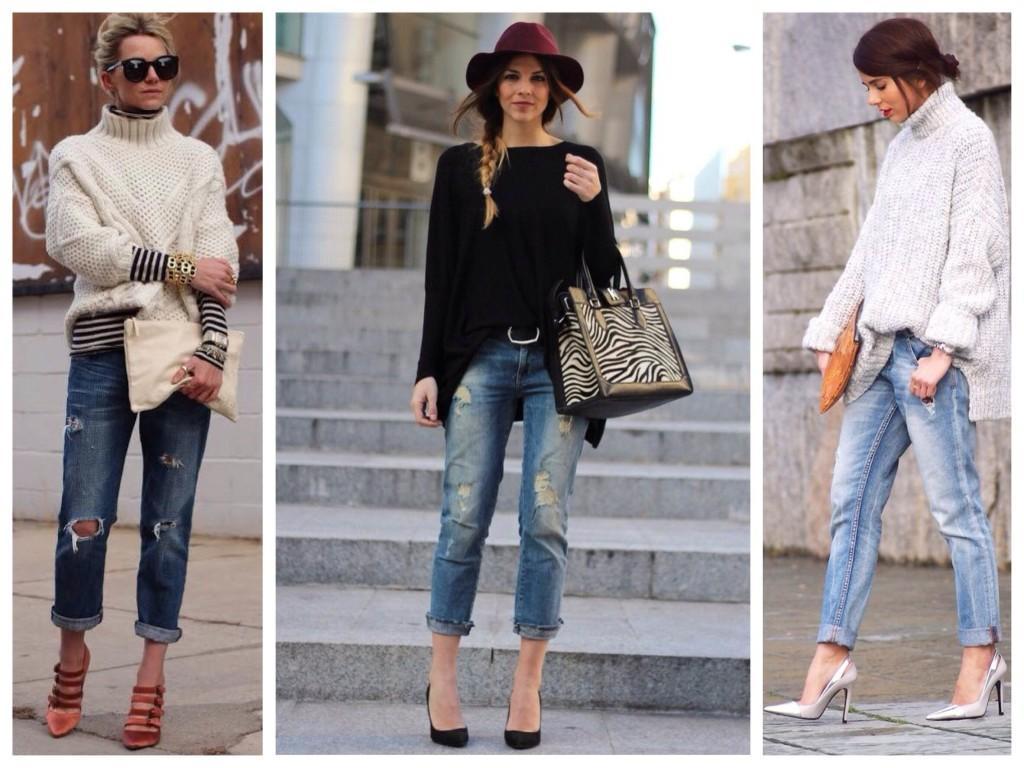 Boyfriends jeans и объемный верх