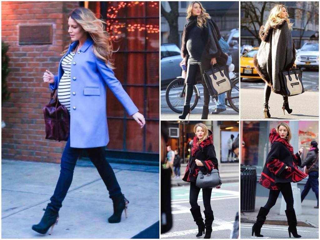 Городские образы Блейк Лайвли в беременность