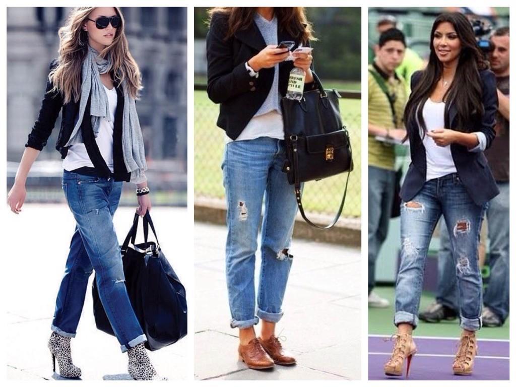 Луки блоггеров и звезд в Boyfriends jeans