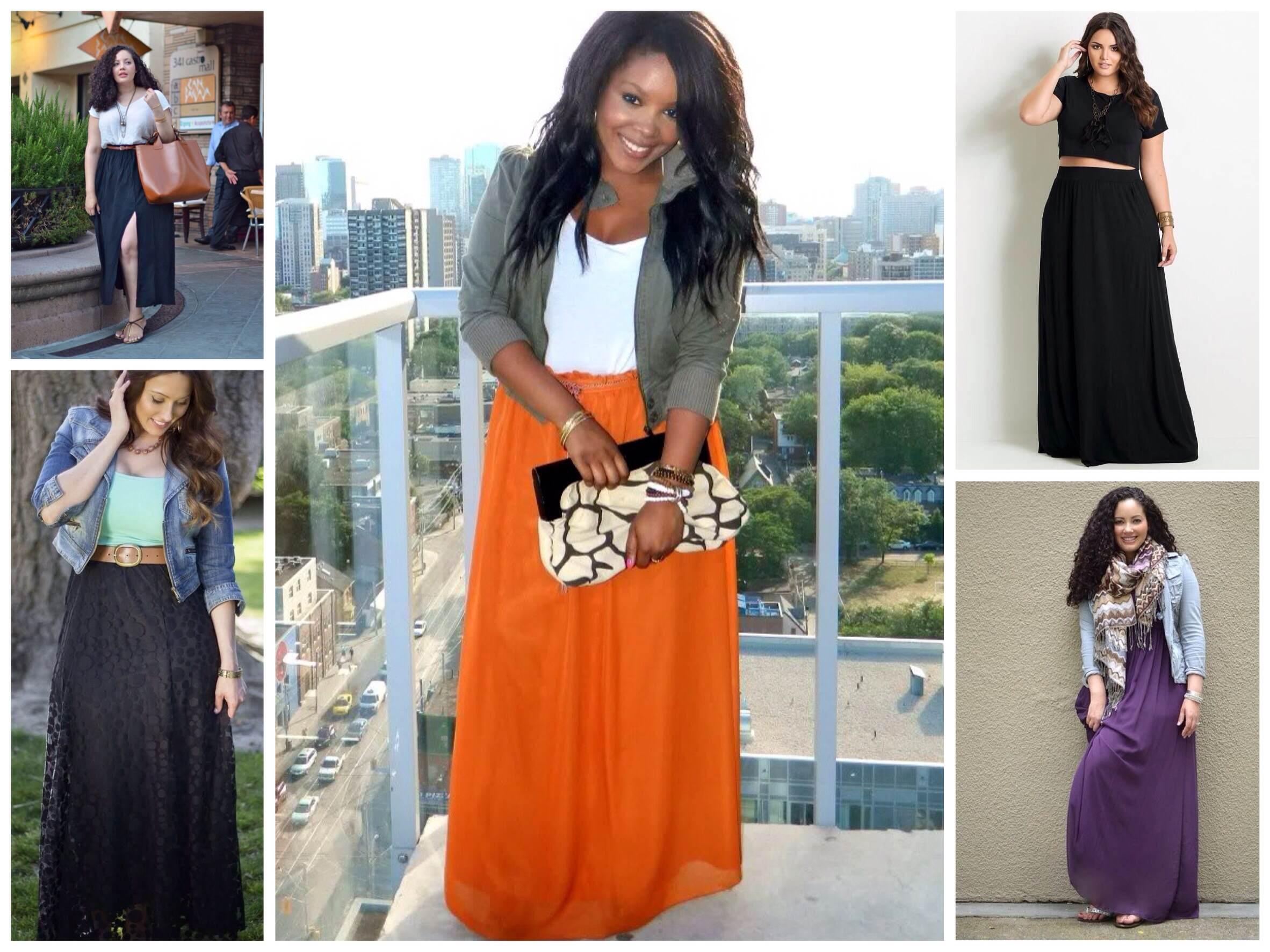 С чем одевают юбки макси