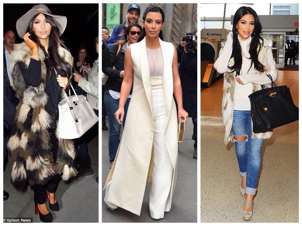 Образы Ким Кардашьян жилеты