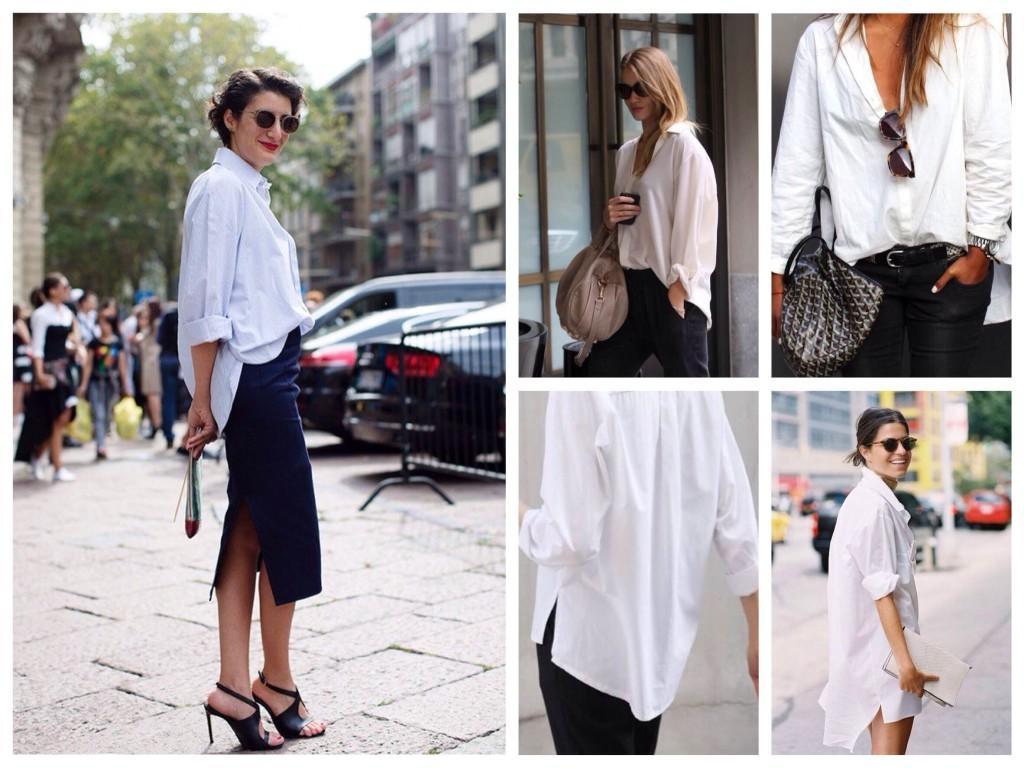 Образы с белой мужской рубашкой