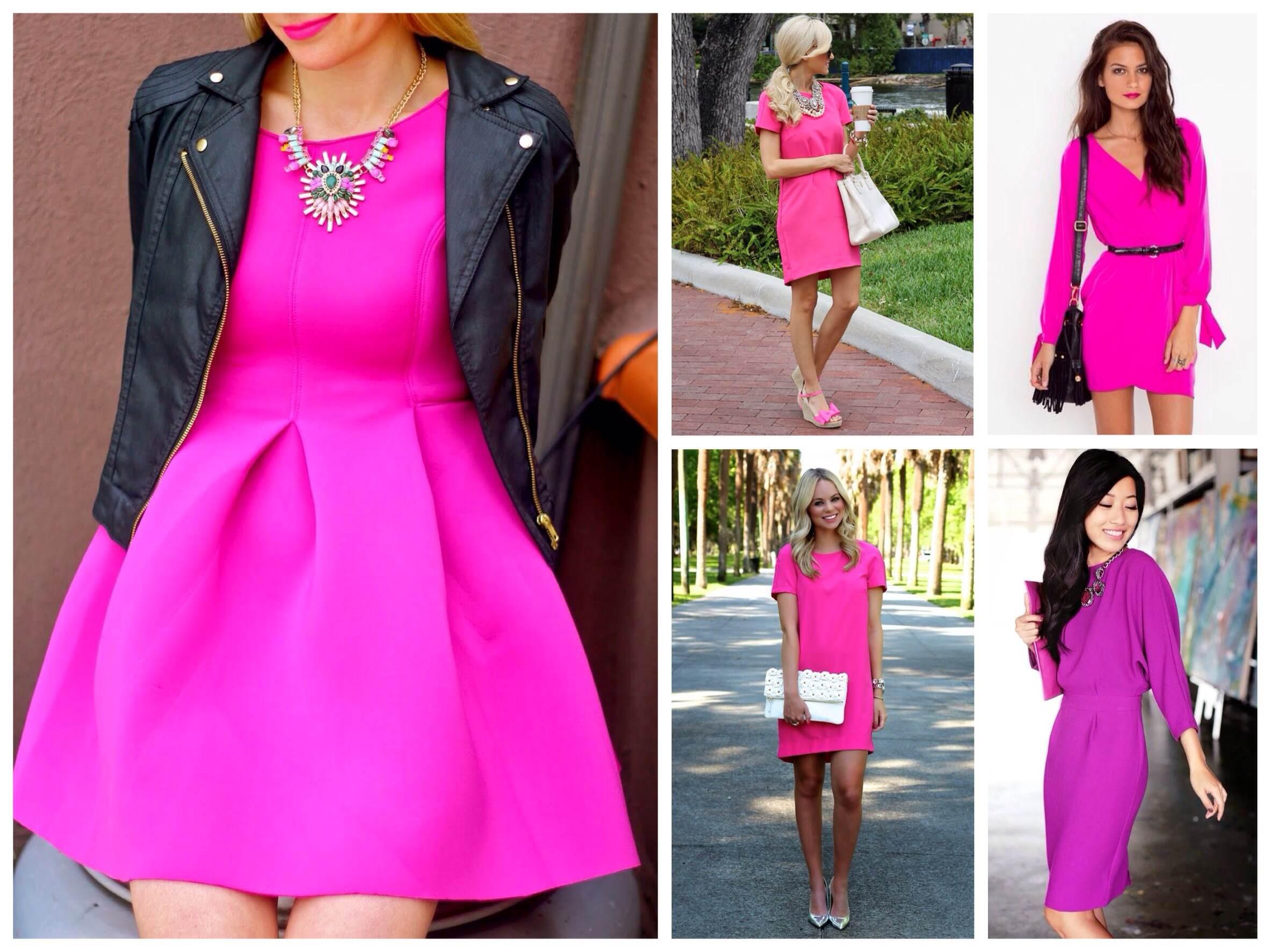 Купить платье цвета фуксии