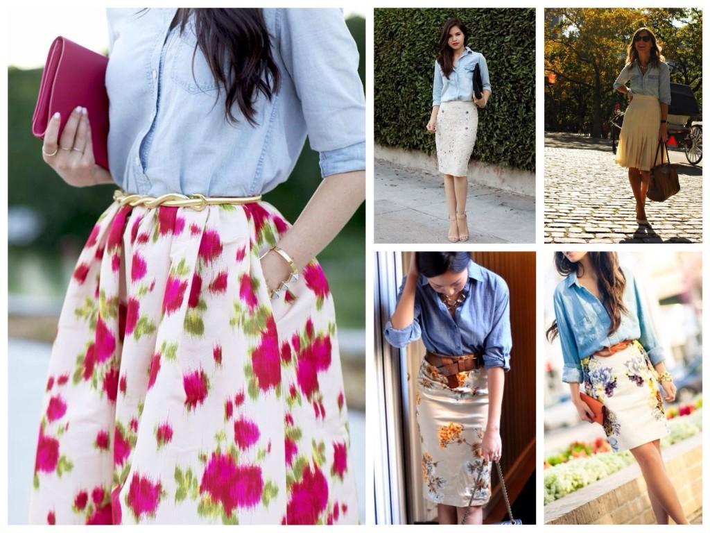 Образы с юбками