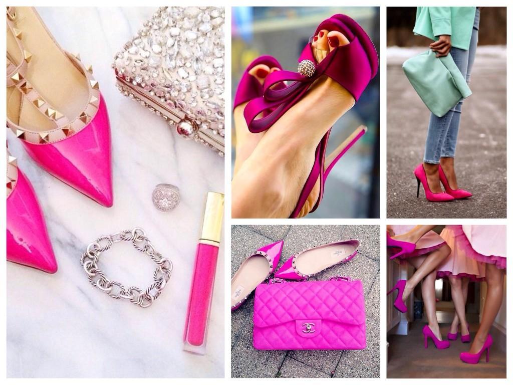 Обувь цвета фуксии