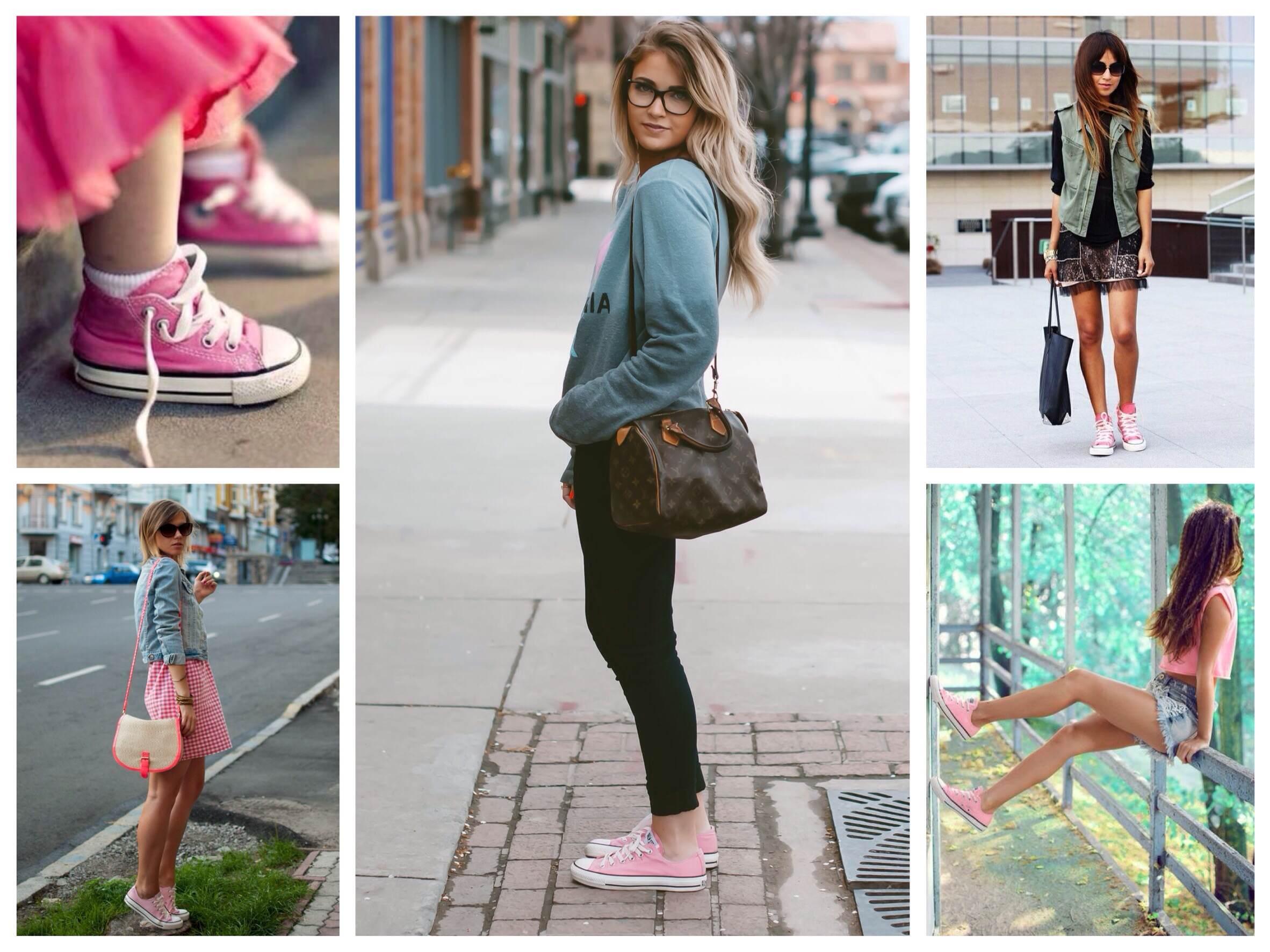 С чем носить кеды девочек
