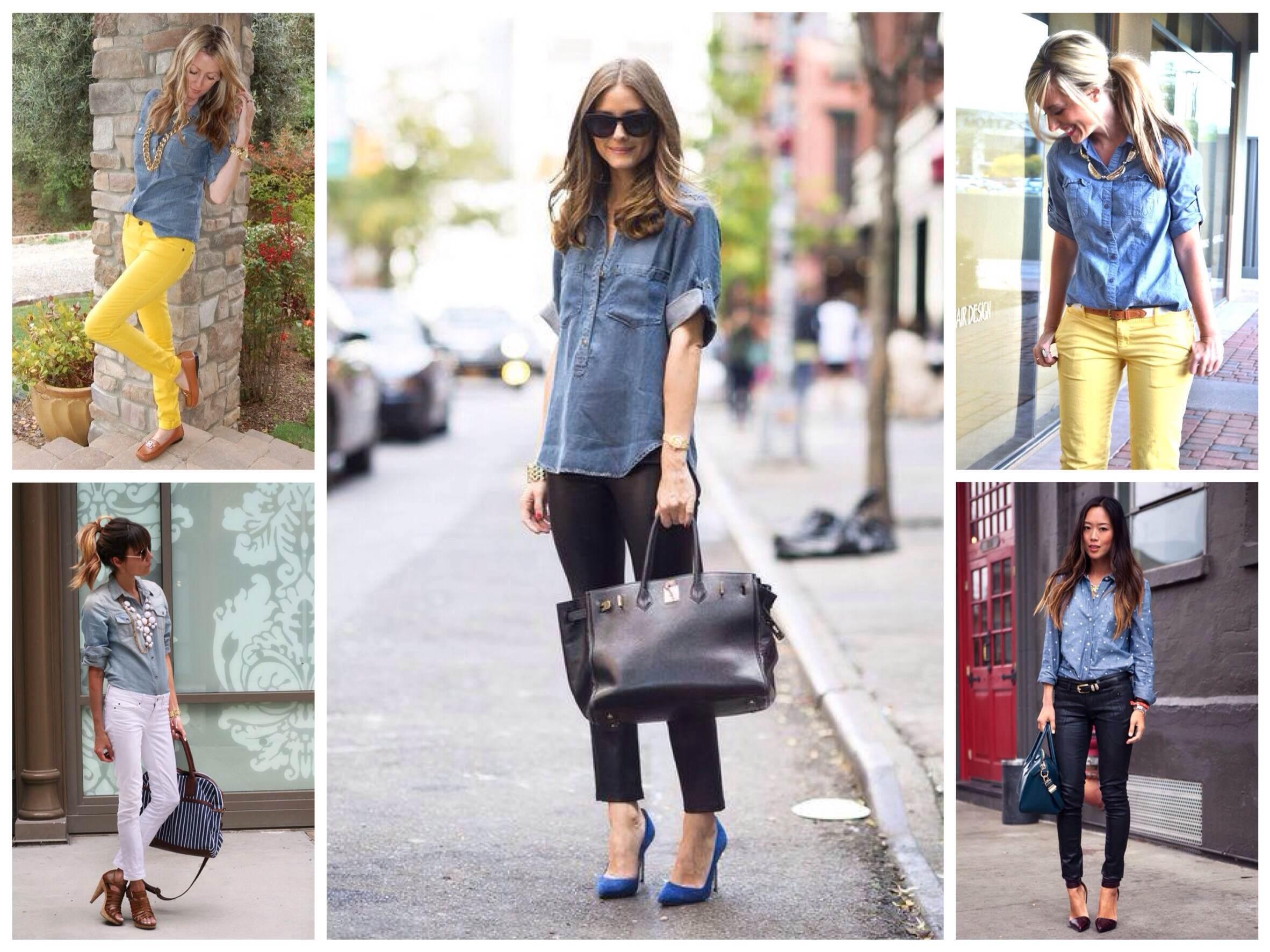 d67398f4465 С чем носить джинсовую рубашку  фото комплектов и рекомендации