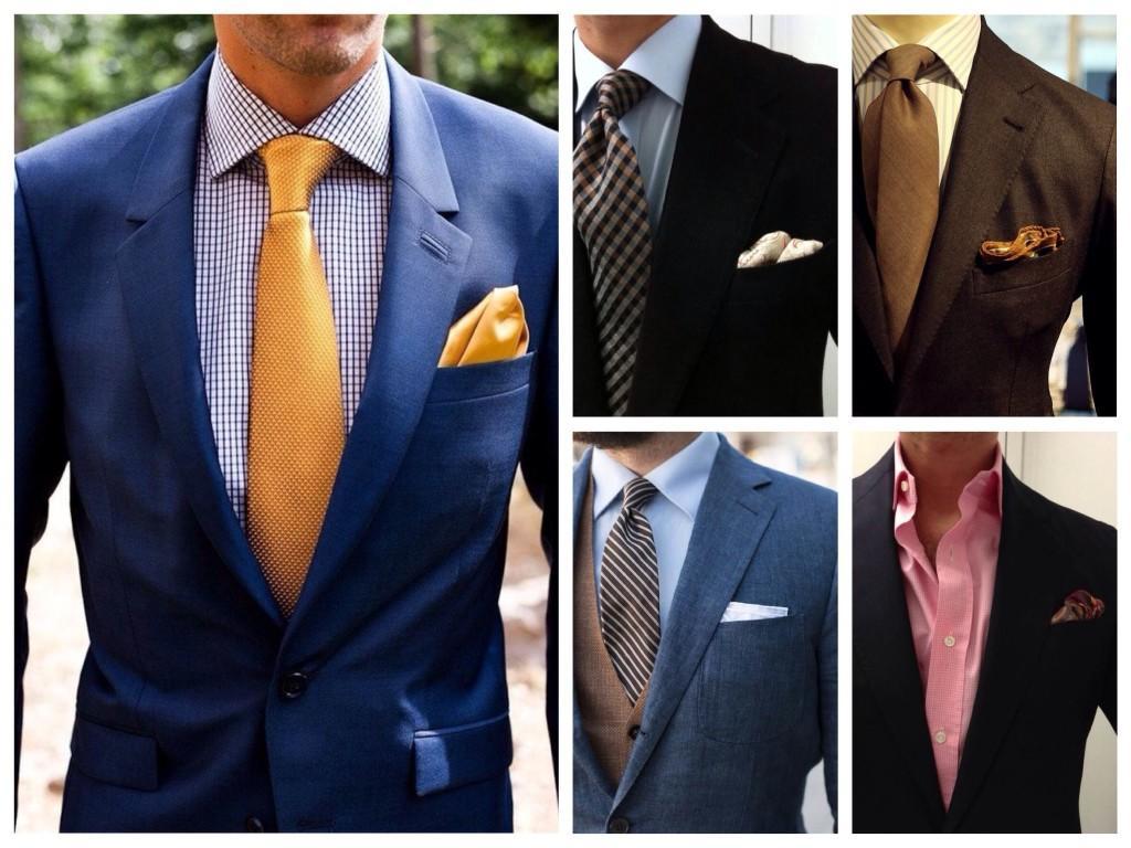 Сочетание рубашек и пиджаков