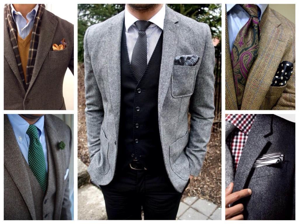 Твидовые мужские пиджаки
