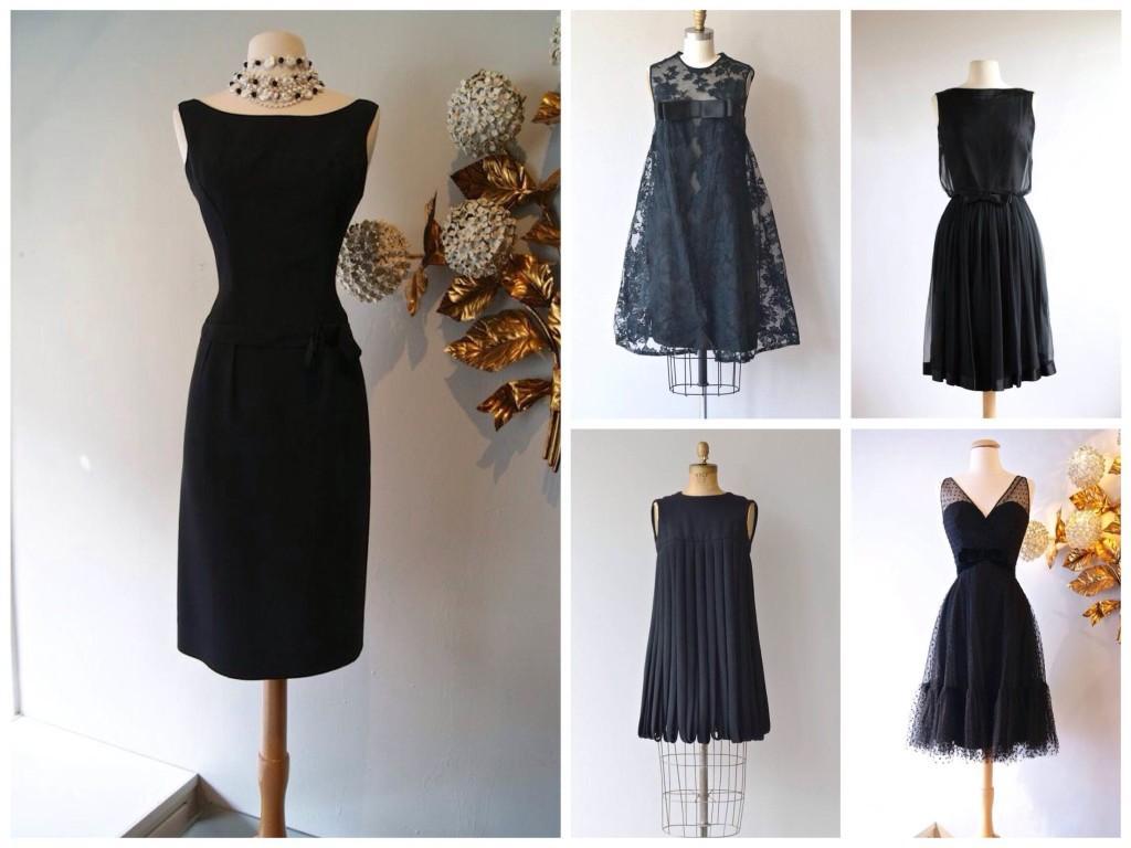 Варианты платья из 60х годов