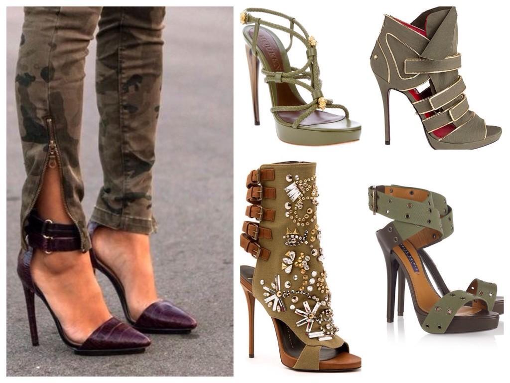 Женственная обувь армейского стиля