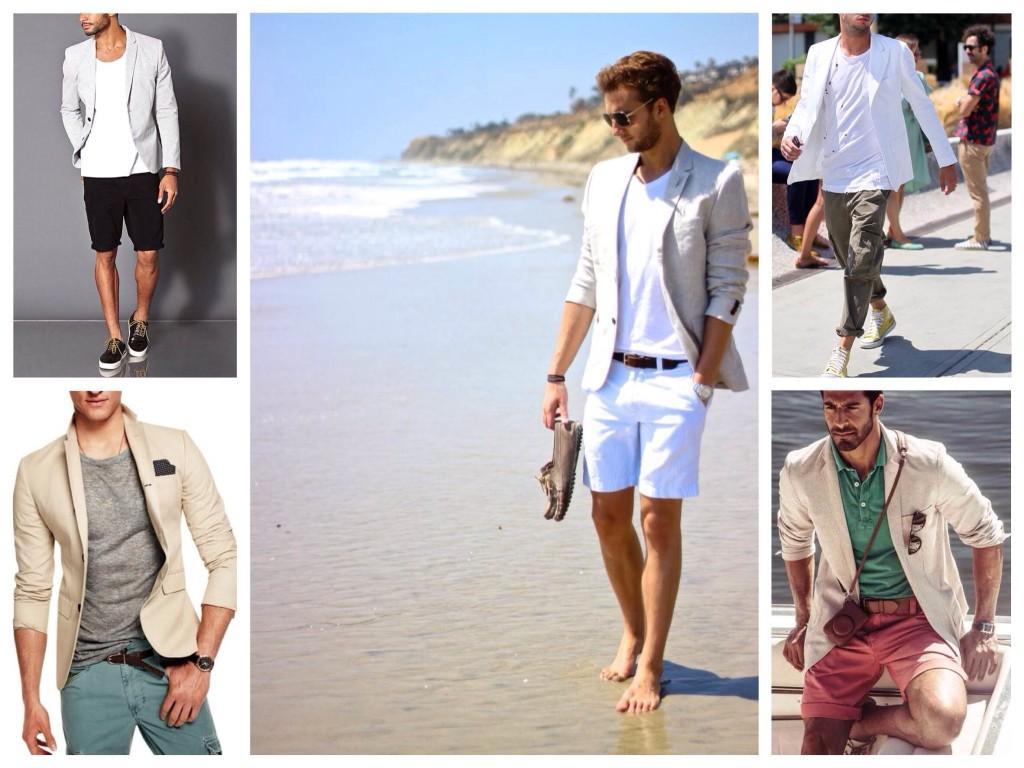 Мужские комплекты пиджак с футболкой