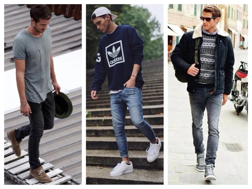 Мужские луки с джинсами скинни