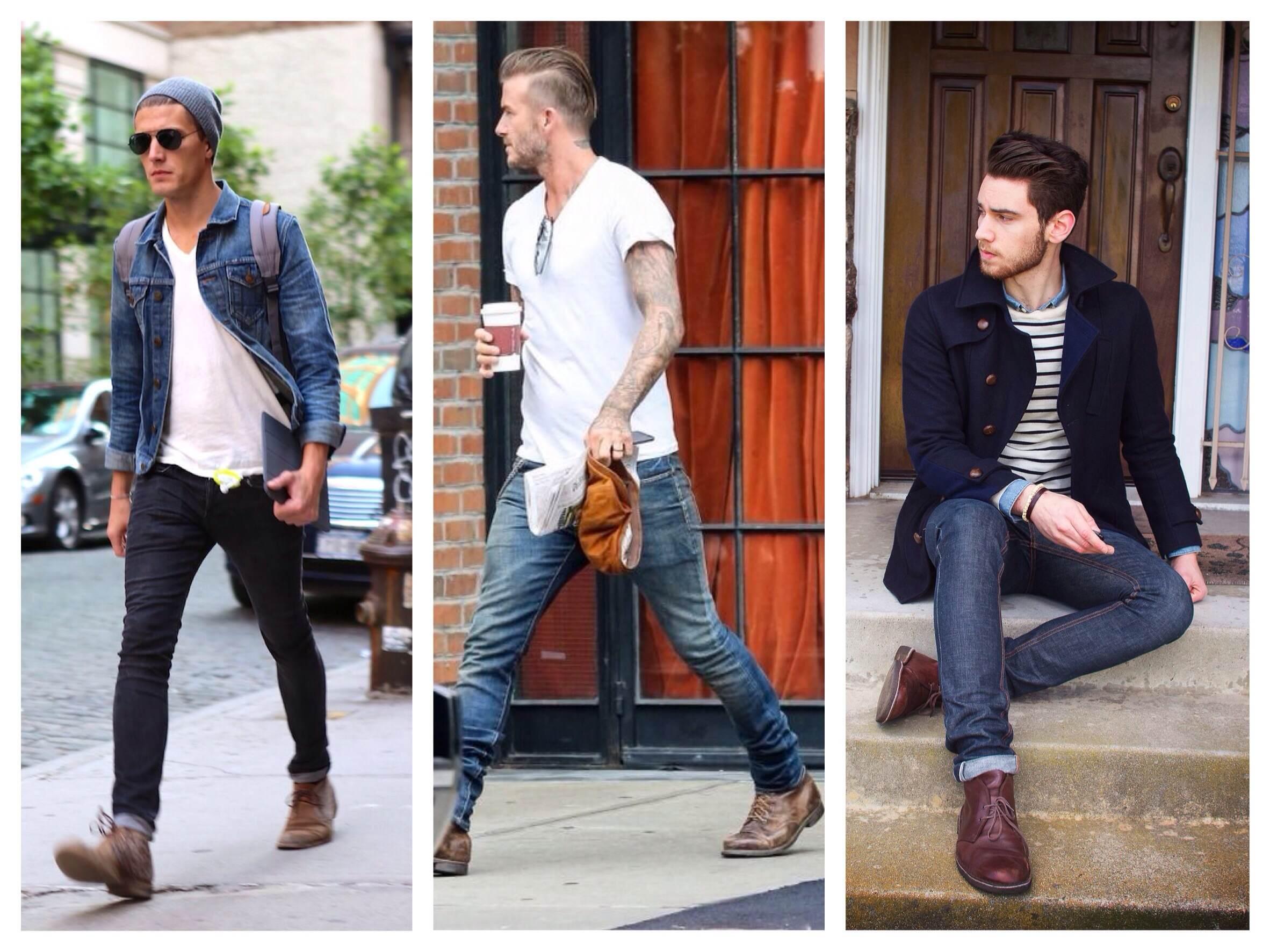 Черные ботинки мужские купить в