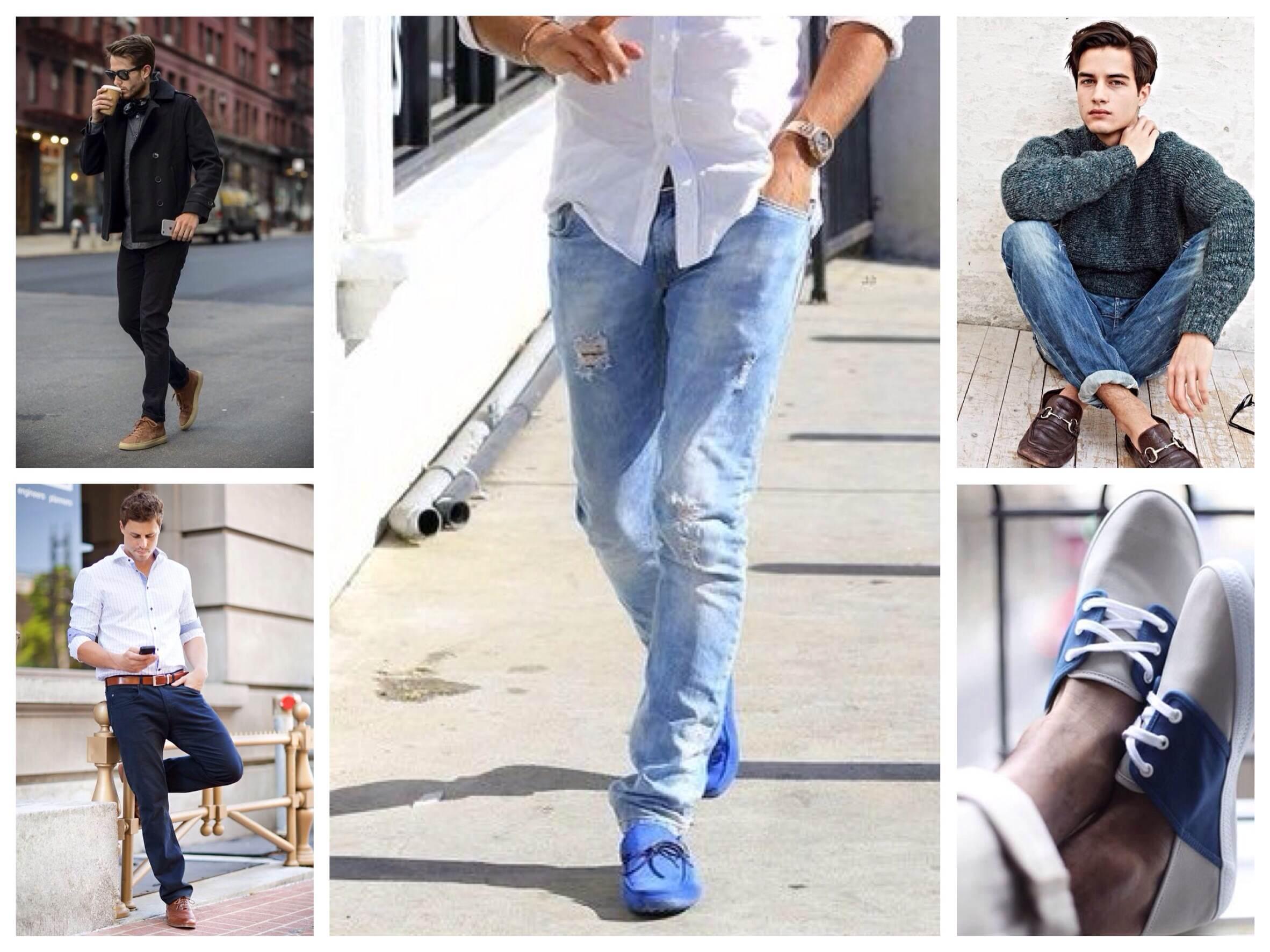 Картинки по запросу Как подобрать мужскую обувь под джинсы?