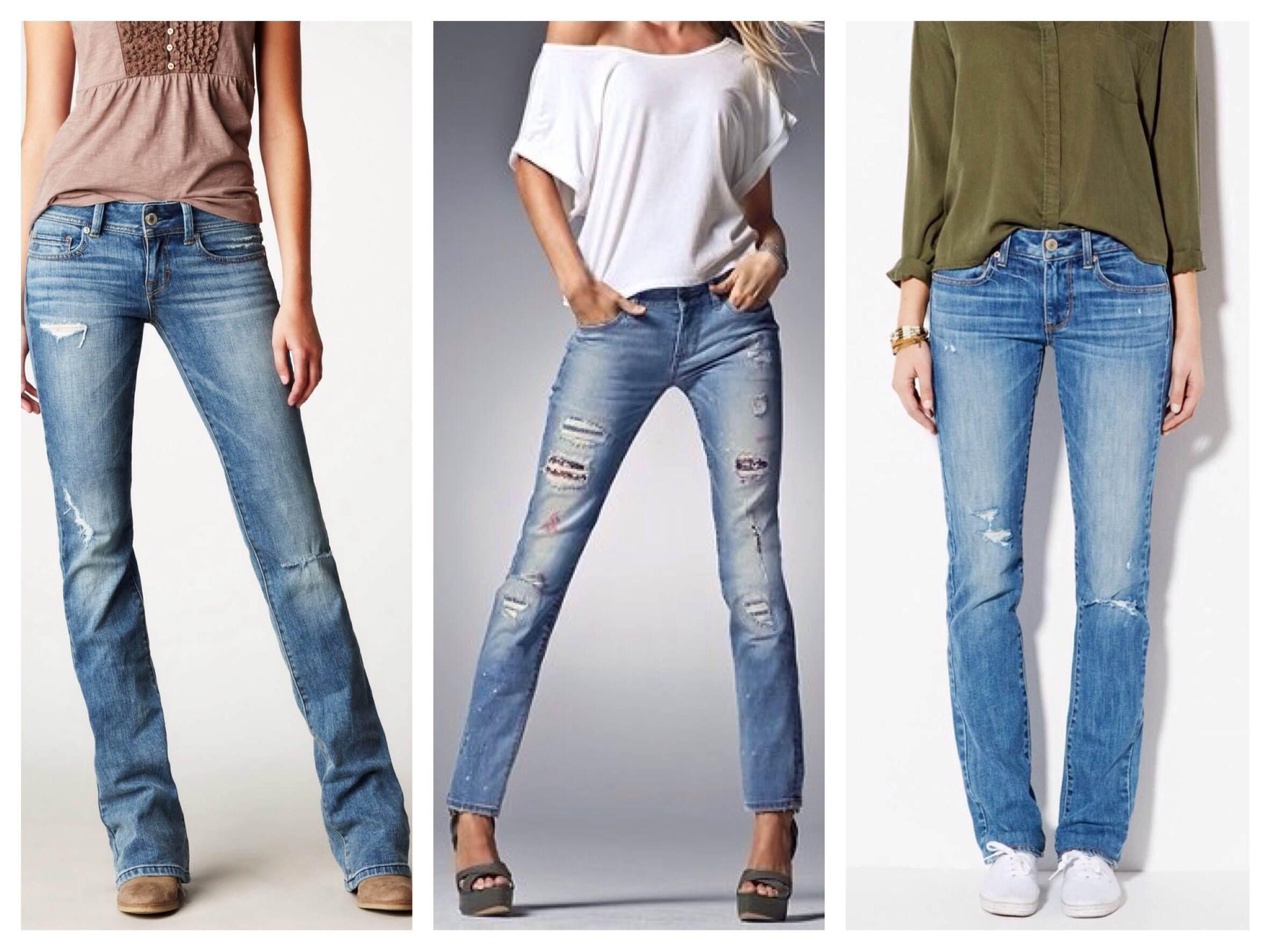 Женские джинсы прямого кроя