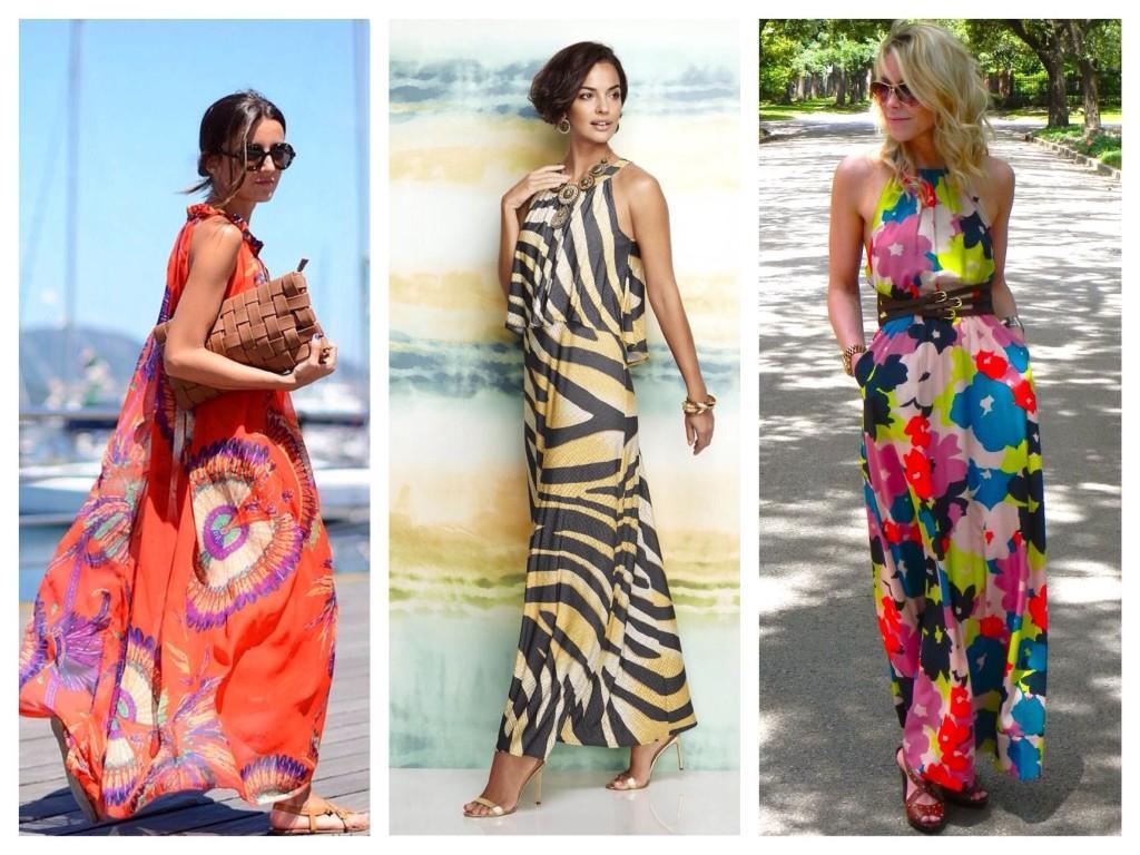 Яркие макси платья и сарафаны