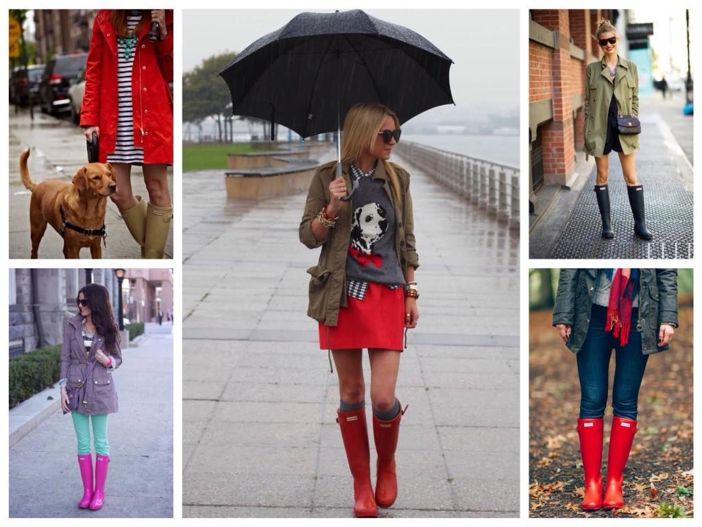 Комплекты в дождь с паркой и резиновой обувью