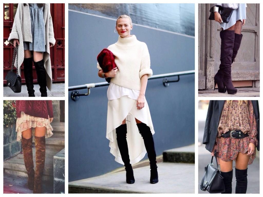 Многослойные комплекты одежды с высокими сапогами