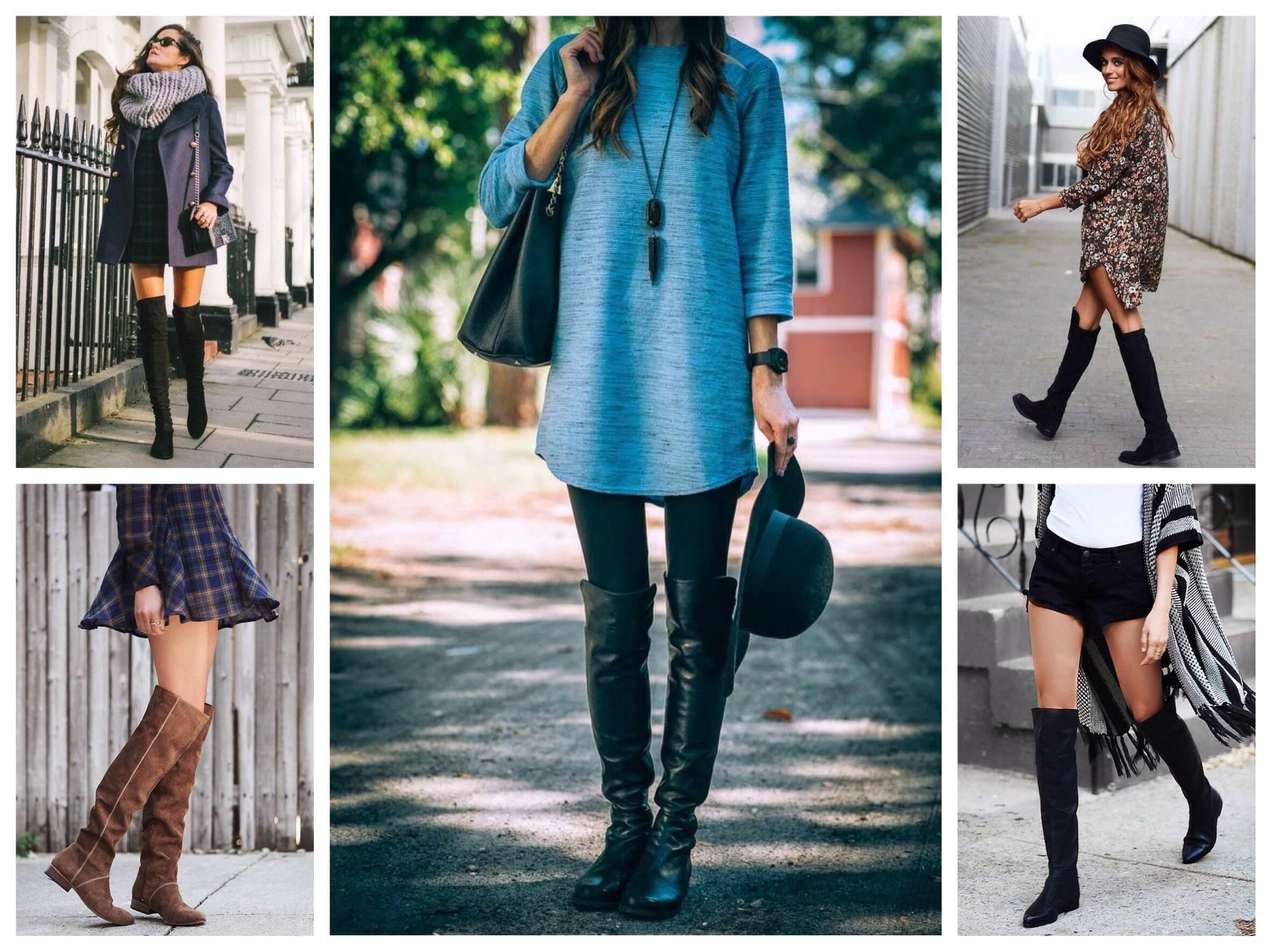 Сапоги низкий каблук с чем носить