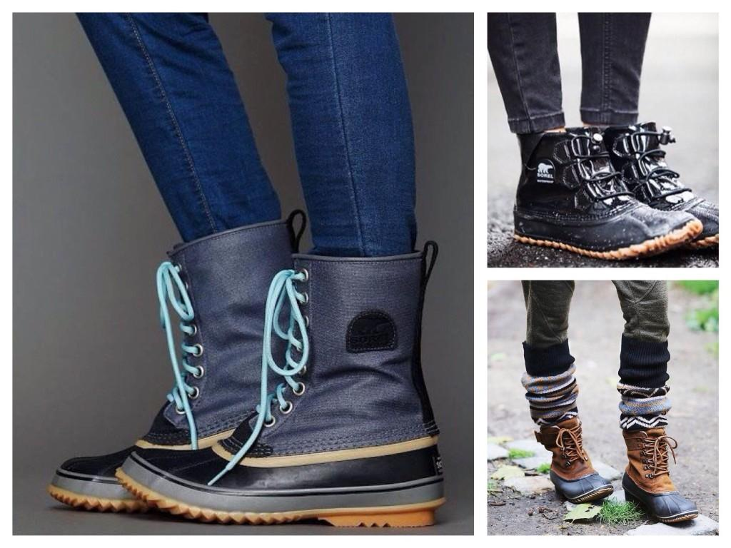 Утепленная комбинированная резиновыя обувь для непогоды