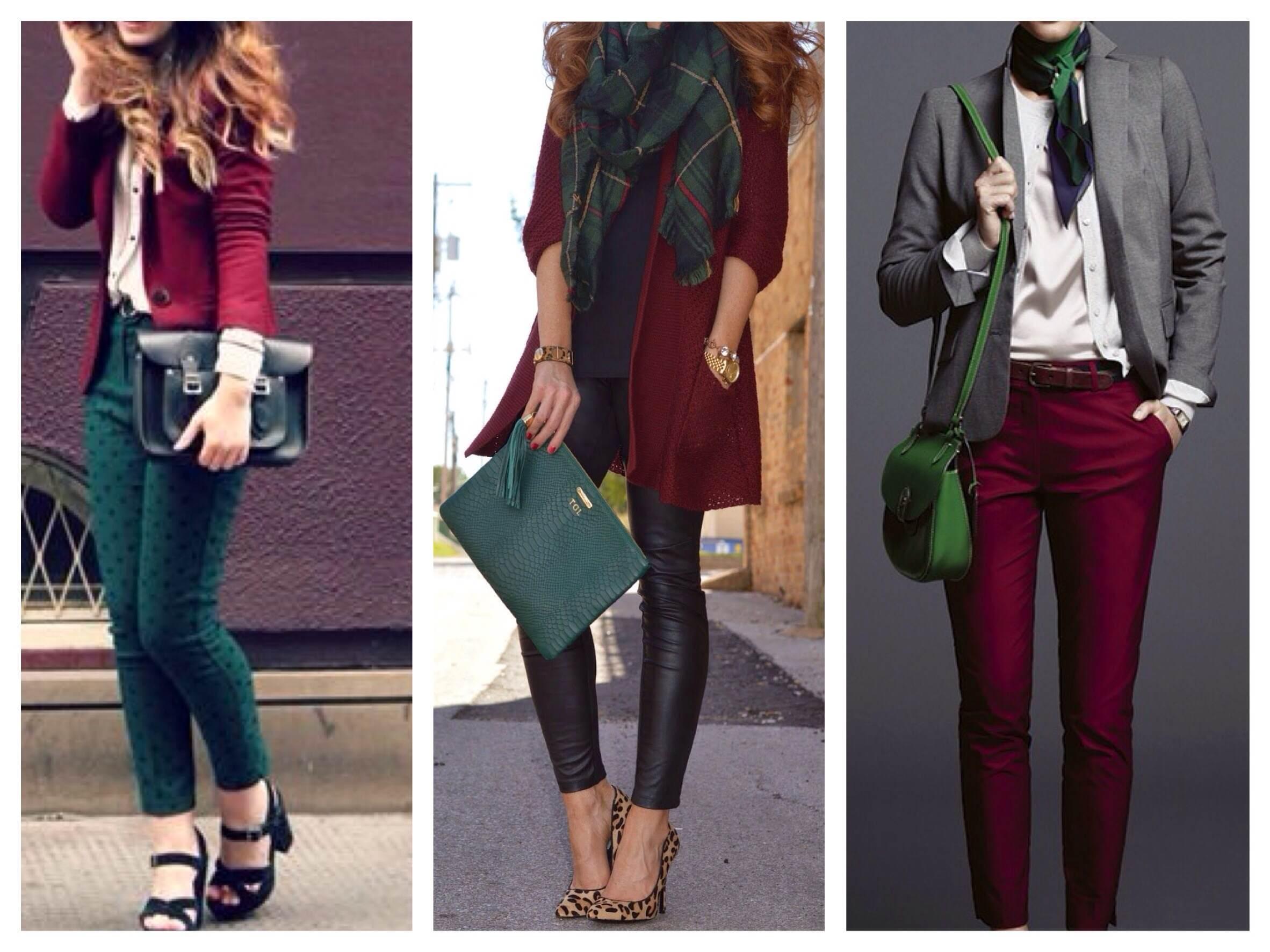 Зеленый и бордовый какой цвет получится