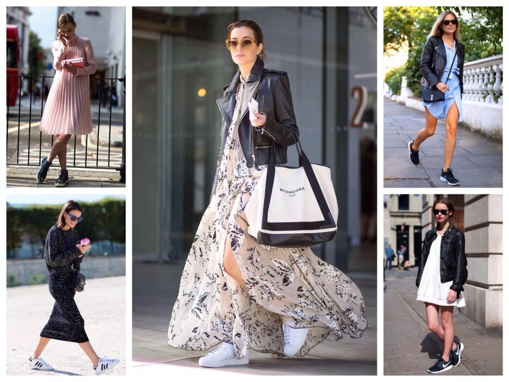 Комплекты кроссовок с платьем