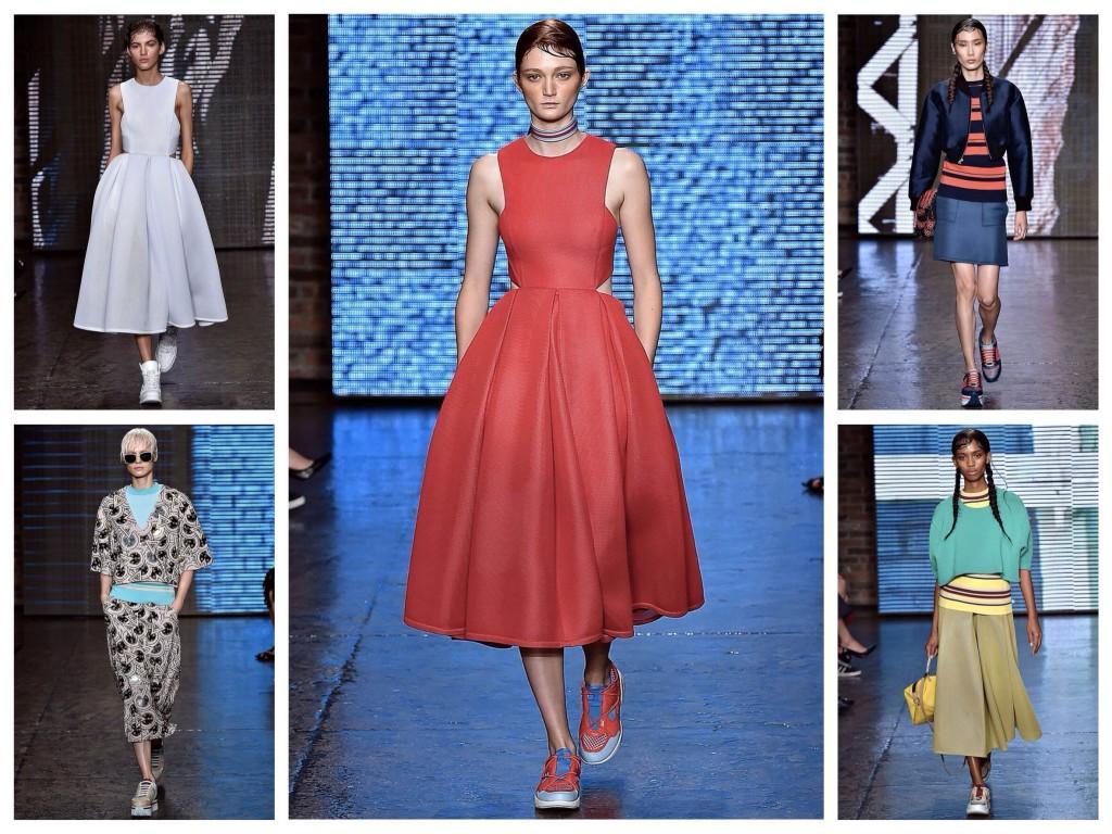 Кроссовки в луках коллекции DKNY 2015