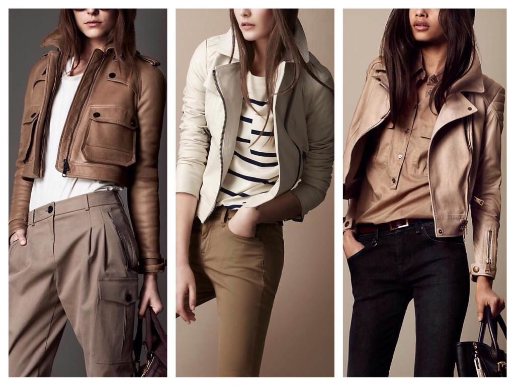 Модели курток из кожи от Burberry