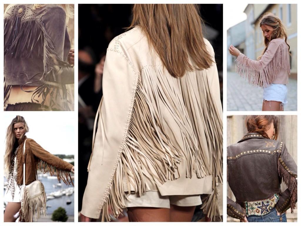 Модели курток с бахромой
