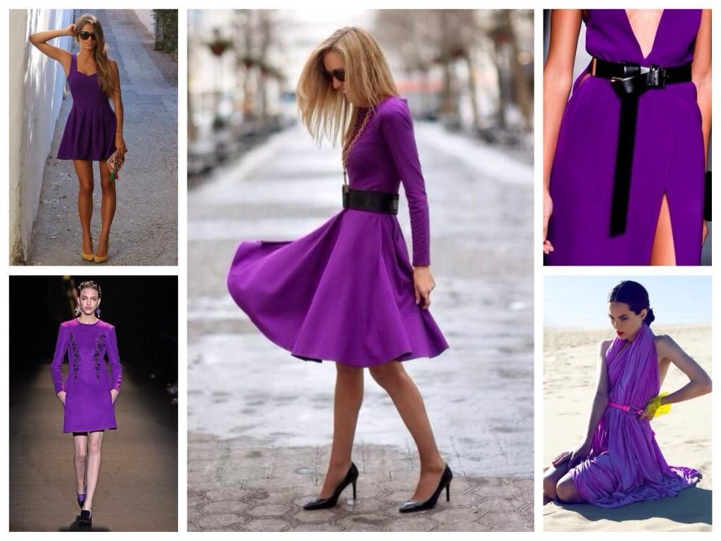 Платья фиолетового цвета