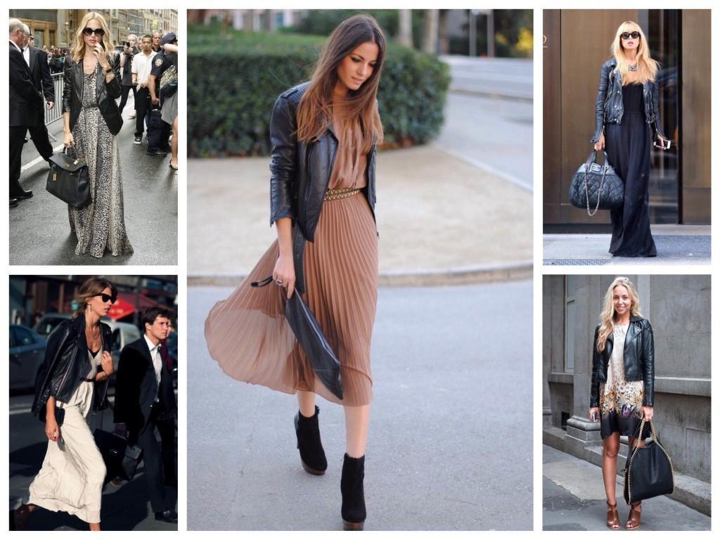 Платья и кожаные куртки