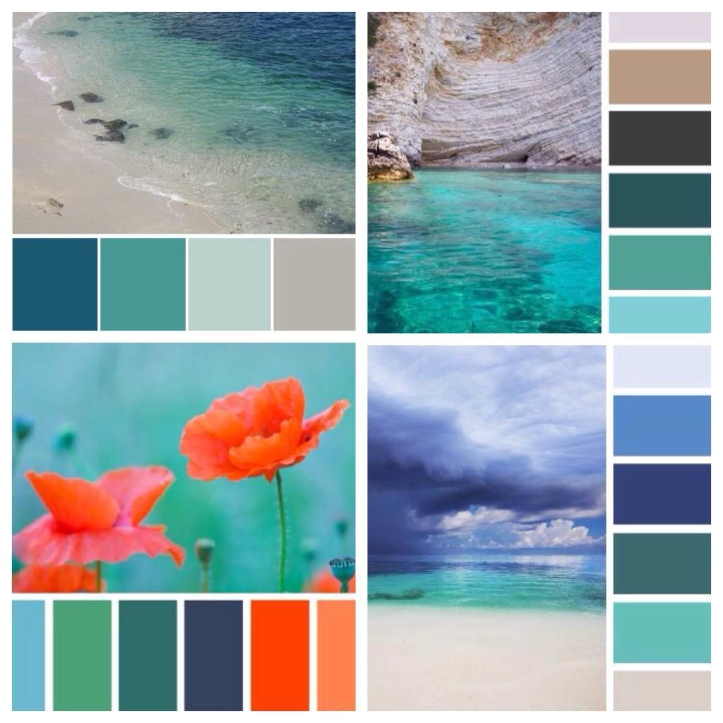Сочетания цвета морской волны