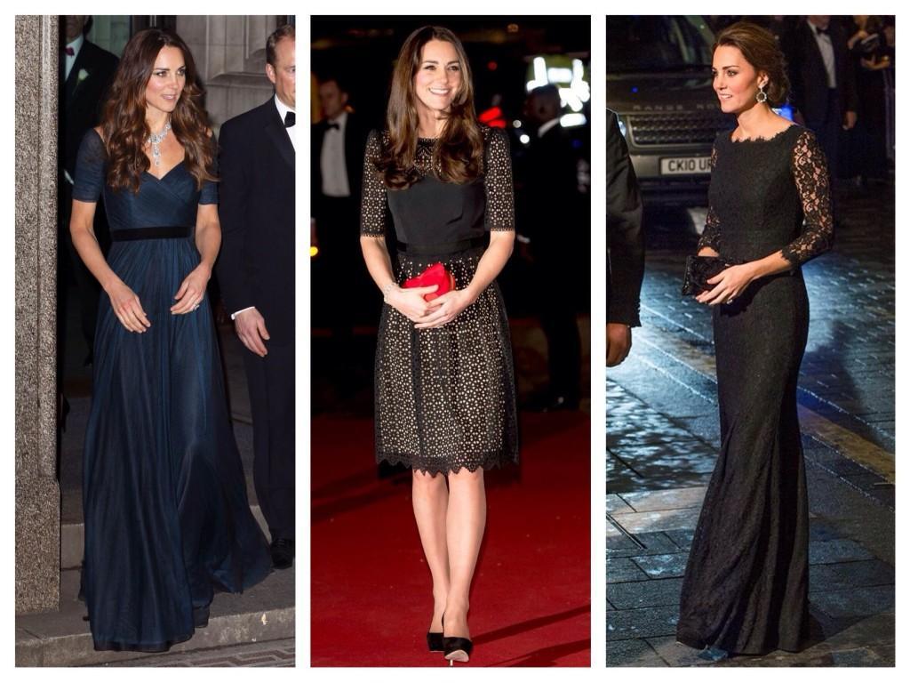 Темные оттенки вечерних платьев