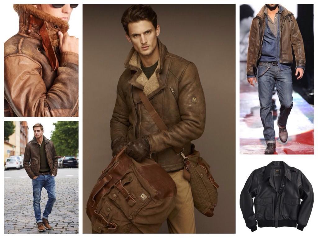 мужские кожаные куртки