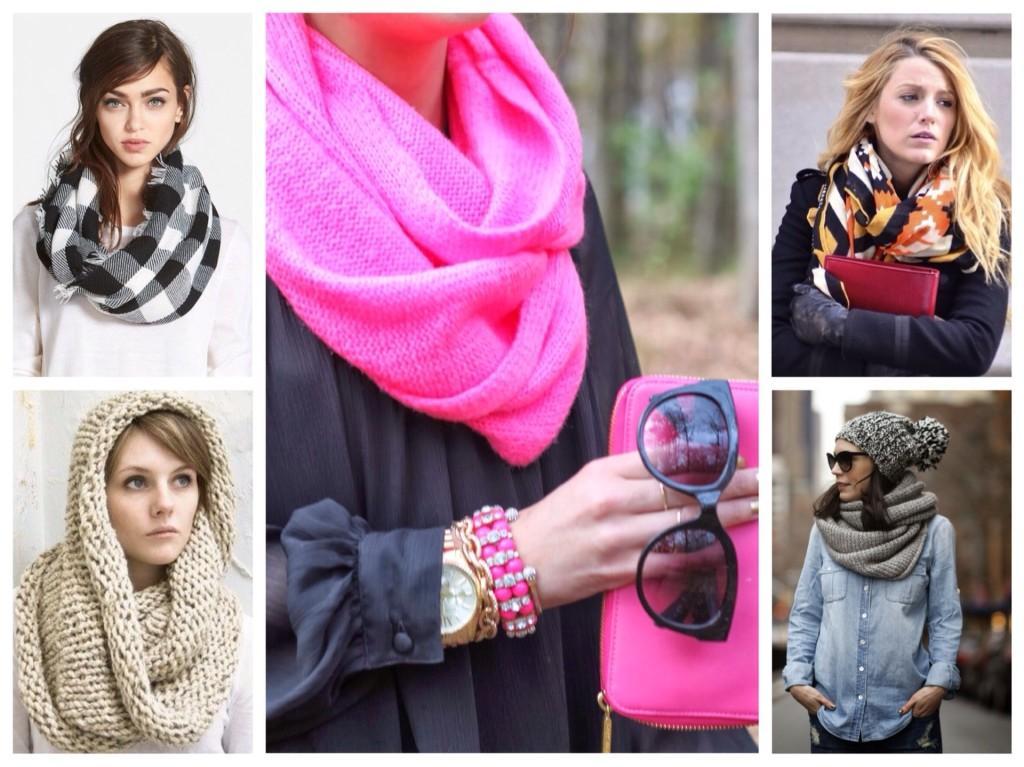 ассортимент шарфов