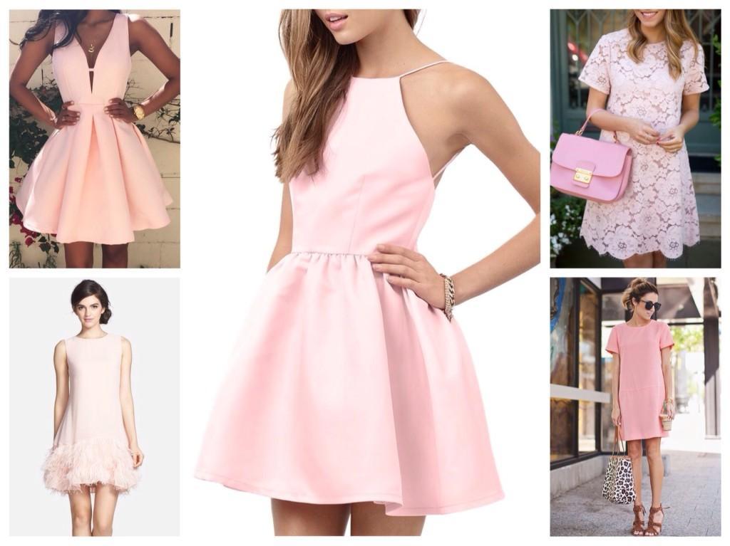 Картинки платья розового цвета