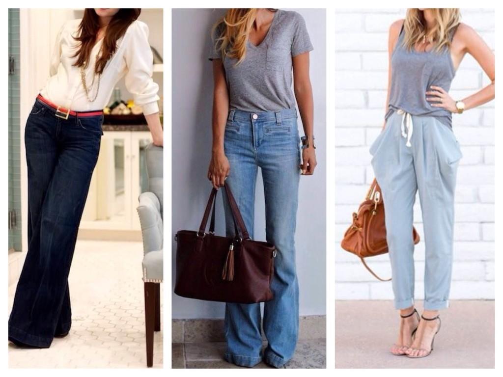 джинсы для перевернутый треугольник