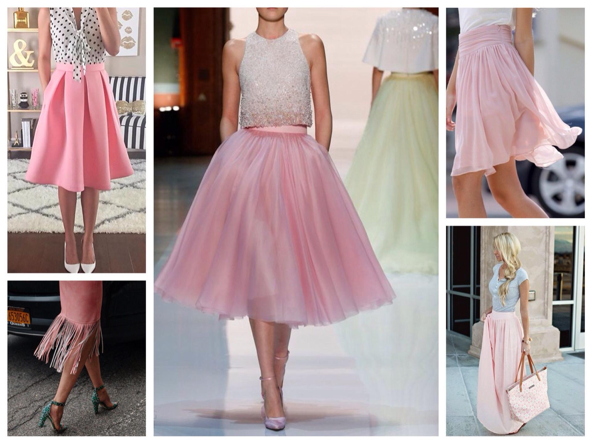 Грязно-розовая юбка