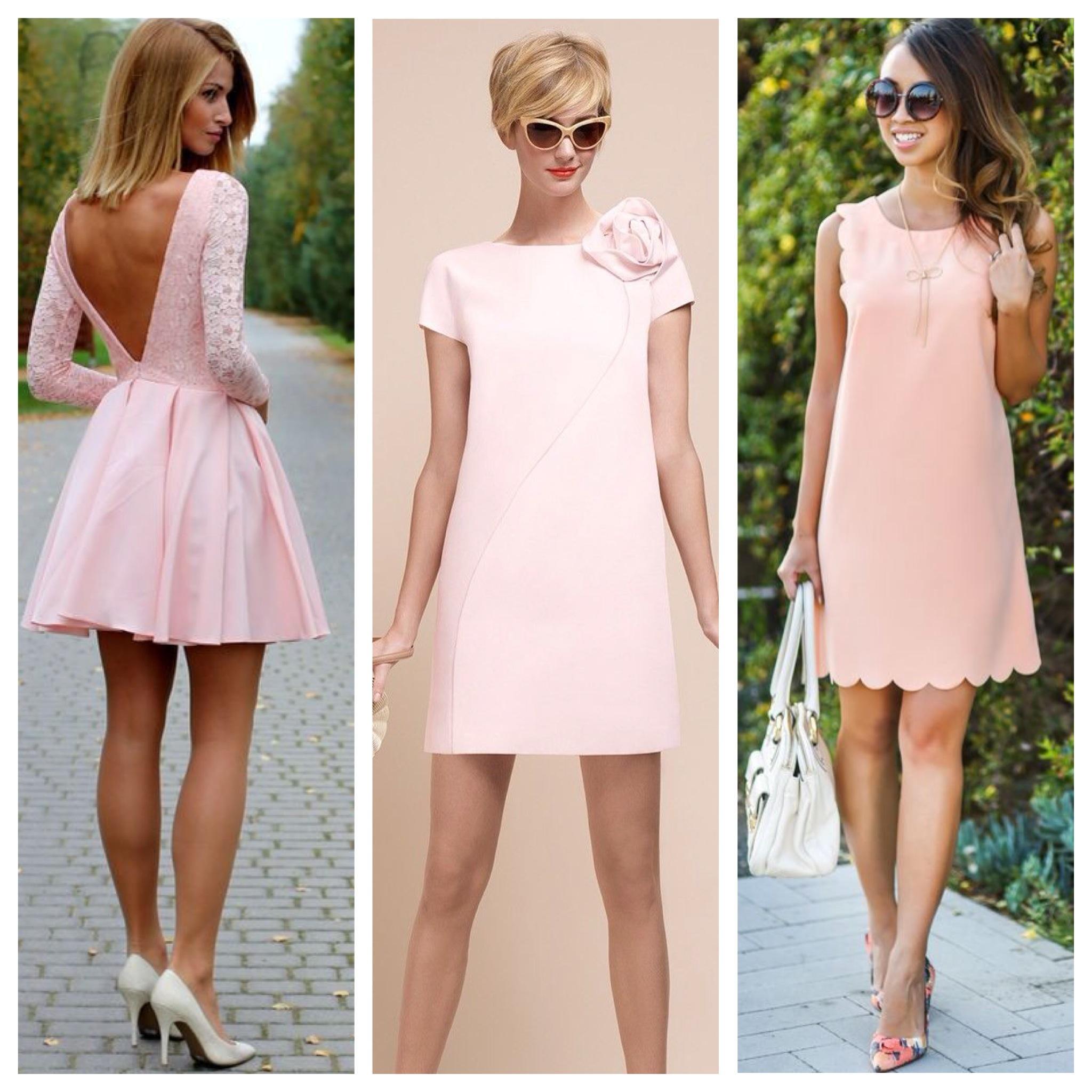 Лилово-розовый цвет платья