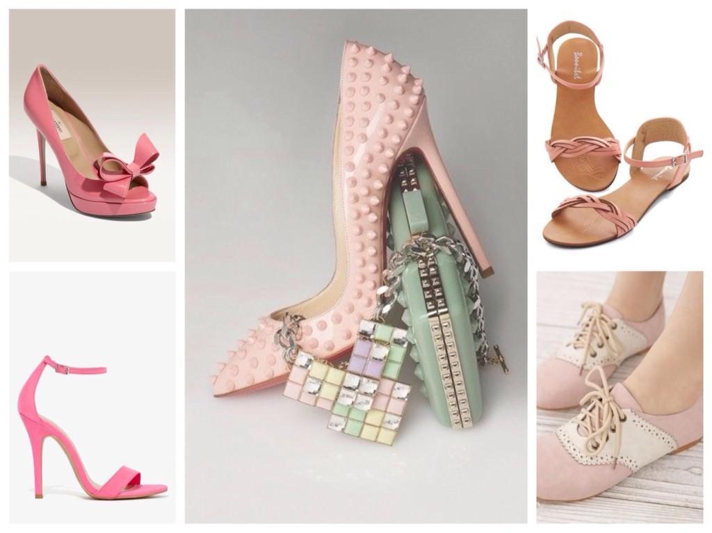 обувь розового цвета