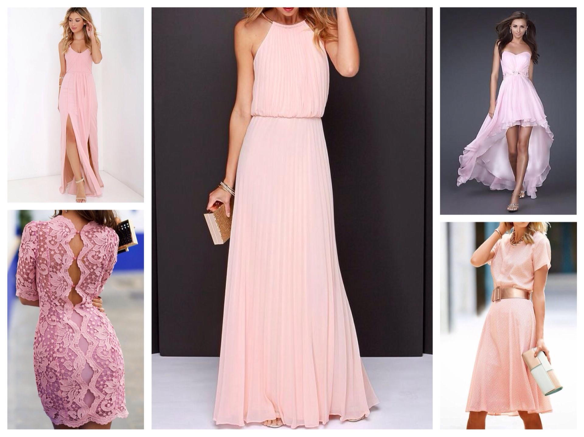 Вечерние платья цвета пудры 154