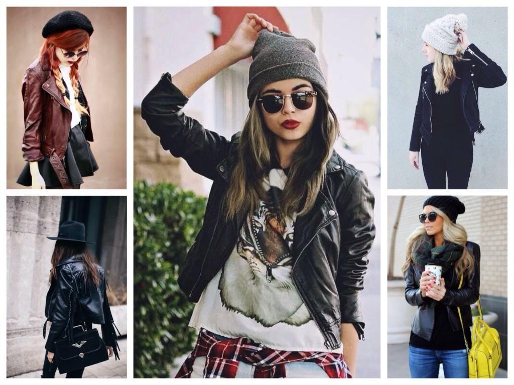 варианты шапок с кожаной курткой