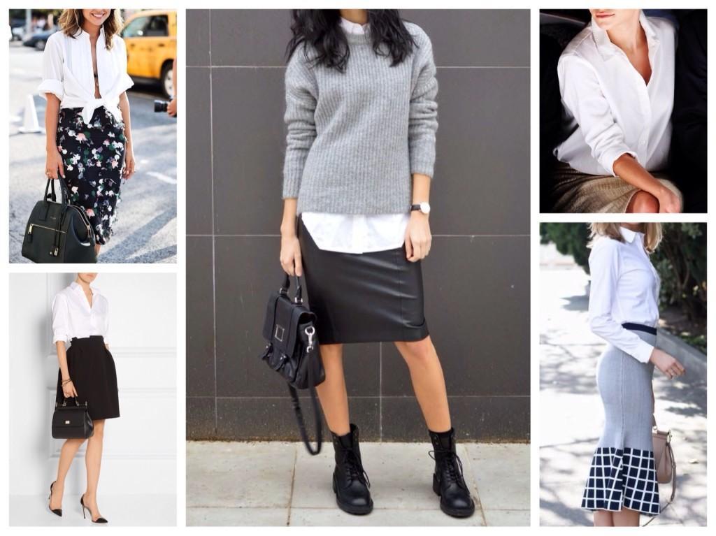 с разными моделями юбок
